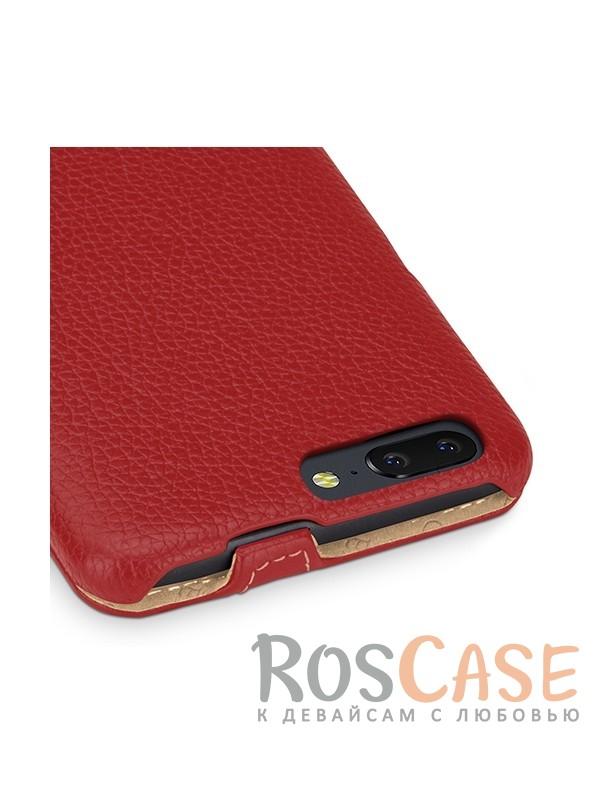 Изображение Красный / Red TETDED натур. кожа | Чехол-флип для OnePlus 5