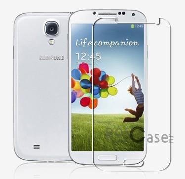 Прозрачная глянцевая защитная пленка Nillkin на экран с гладким пылеотталкивающим покрытием для Samsung i9500 Galaxy S4