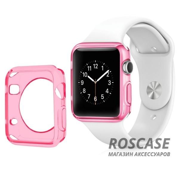 TPU чехол для Apple watch 38mm (Малиновый (матово/прозрачный))Описание:производитель - бренд&amp;nbsp;Epik;разработан для&amp;nbsp;Apple watch 38mm;материал: термополиуретан;тип: накладка.Особенности:тонкий дизайн;легкая фиксация;защита от царапин;эластичный;не деформируется.<br><br>Тип: Чехол<br>Бренд: Epik<br>Материал: TPU