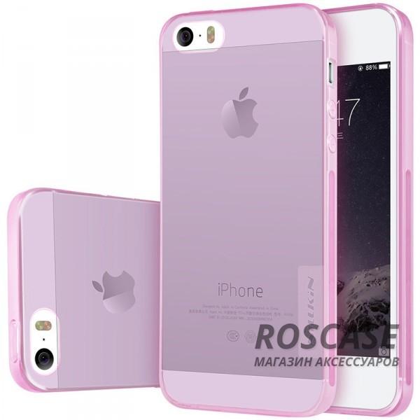 TPU чехол Nillkin Nature Series для Apple iPhone 5/5S/SE (Розовый (прозрачный))Описание:производитель  -  бренд&amp;nbsp;Nillkin;подходит для Apple iPhone 5/5S/SE;материал  -  термополиуретан;тип  -  накладка.&amp;nbsp;Особенности:в наличии все вырезы;не скользит в руках;тонкий дизайн;защита от ударов и царапин;прозрачный.<br><br>Тип: Чехол<br>Бренд: Nillkin<br>Материал: TPU