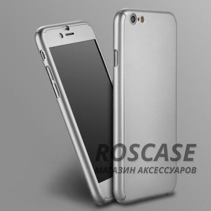 Чехол iPaky 360 градусов для Apple iPhone 6/6s (4.7) (+ стекло на экран) (Серебряный)Описание:производитель: iPaky;совместимость: смартфон Apple iPhone 6/6s (4.7);материалы для изготовления: поликарбонат и каленое стекло;форм-фактор: накладка.Особенности:надежная защита: чехол, бампер, стекло;высокий уровень износостойкости и прочности;ультратонкий, не увеличивает визуально объем;легко фиксируется;легко очищается.<br><br>Тип: Чехол<br>Бренд: Epik<br>Материал: Пластик