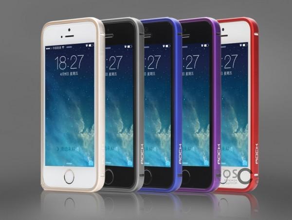 фото металлический бампер Rock Arc Slim Guard для Apple iPhone 5/5S/5SE