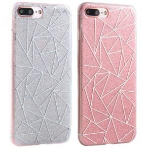 Силиконовый чехол для Apple iPhone 7 Plus с блестящим геометрическим узором