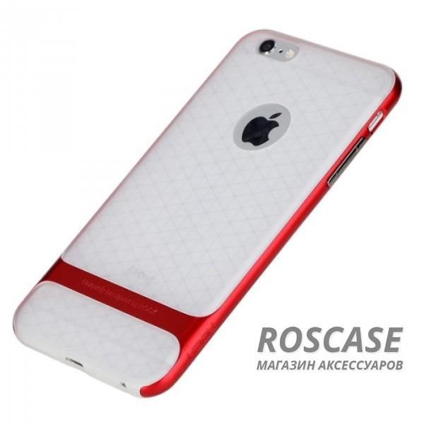 TPU+PC чехол Rock Royce (Transparent) Series для Apple iPhone 6/6s (4.7) (Красный / Red)Описание:фирма-производитель  - &amp;nbsp;Rock;совместимость - Apple iPhone 6/6s (4.7);материалы  -  полиуретан, поликарбонат;тип  -  накладка.&amp;nbsp;Особенности:пластичный;имеет все необходимые вырезы;легко чистится;не увеличивает габариты;защищает от ударов и падений;износостойкий.<br><br>Тип: Чехол<br>Бренд: ROCK<br>Материал: TPU