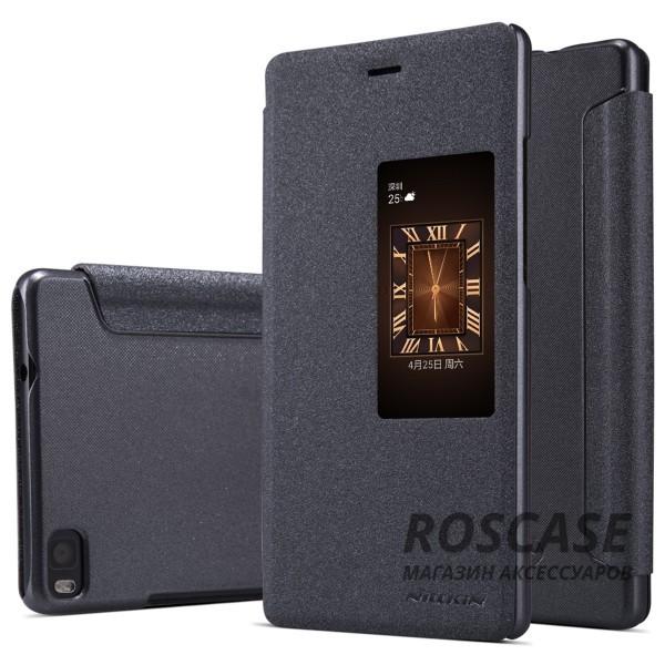 Кожаный чехол (книжка) Nillkin Sparkle Series для Huawei Ascend P8 (Черный)Описание:бренд -&amp;nbsp;Nillkin;совместим с Huawei Ascend&amp;nbsp;P8;материал - кожзам;тип: книжка.&amp;nbsp;Особенности:функция Sleep mode;окошко в обложке;блестящая поверхность;защита со всех сторон.<br><br>Тип: Чехол<br>Бренд: Nillkin<br>Материал: Искусственная кожа
