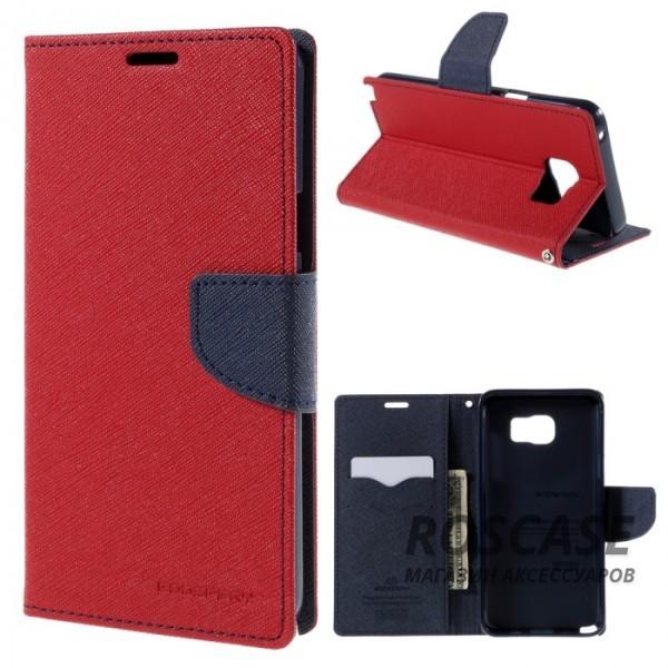 Чехол (книжка) Mercury Fancy Diary series для Samsung Galaxy Note 5 (Красный / Синий)Описание:производство  -  Mercury;совместимость - Samsung Galaxy Note 5;тип чехла  -  книжка;материалы  -  термополиуретан, синтетическая кожа.Особенности:магнитная застежка;доступ к разъемам и кнопкам;возможность трансформации в подставку;внутренний карман-визитница.<br><br>Тип: Чехол<br>Бренд: Mercury<br>Материал: Искусственная кожа