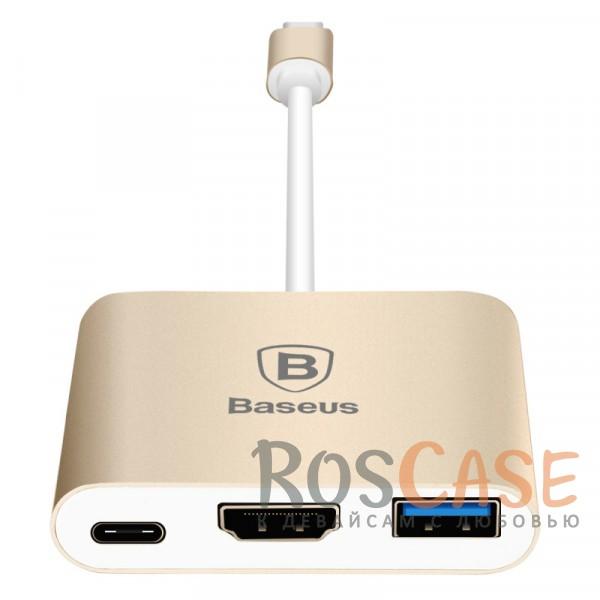 Фото Переходник Baseus Sharp Series (Type-C To HDMI + USB 3.0 Adapter)