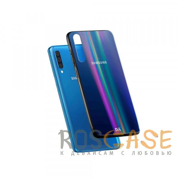 Фотография Черный TPU+Glass чехол Gradient Aurora с лого для Samsung Galaxy A50 (A505F) / A50s / A30s