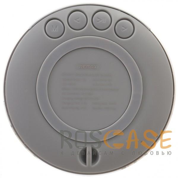 Изображение Серебряный Remax RB-M13 | Портативная Bluetooth колонка круглой формы с кнопками управления