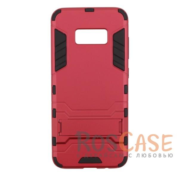 Ударопрочный чехол-подставка Transformer для Samsung G955 Galaxy S8 Plus с мощной защитой корпуса (Красный / Dante Red)Описание:чехол разработан для Samsung G955 Galaxy S8 Plus;материалы - термополиуретан, поликарбонат;тип - накладка;функция подставки;защита от ударов;прочная конструкция;не скользит в руках.<br><br>Тип: Чехол<br>Бренд: Epik<br>Материал: Пластик