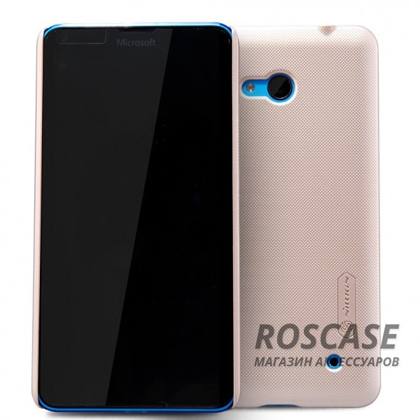 Чехол Nillkin Matte для Microsoft Lumia 640 (+ пленка) (Золотой)Описание:производитель - компания&amp;nbsp;Nillkin;материал - поликарбонат;совместим с Microsoft Lumia 640;тип - накладка.&amp;nbsp;Особенности:матовый;прочный;тонкий дизайн;не скользит в руках;не выцветает;пленка в комплекте.<br><br>Тип: Чехол<br>Бренд: Nillkin<br>Материал: Поликарбонат