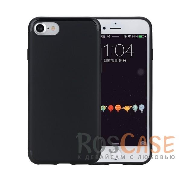 Гибкий матовый силиконовый чехол с олеофобным покрытием для Apple iPhone 7 / 8 (4.7) (Черный / Black)Описание:произведен фирмой Rock;совместим с Apple iPhone 7 / 8 (4.7);материал  -  термополиуретан;тип  -  накладка.&amp;nbsp;Особенности:имеются все функциональные вырезы;матовая поверхность;не скользит;амортизирует удары;на ней не видны следы от пальцев;защищает от царапин.<br><br>Тип: Чехол<br>Бренд: ROCK<br>Материал: TPU