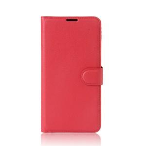 Гладкий кожаный чехол-бумажник на магнитной застежке с функцией подставки и внутренними карманами для Meizu M5c