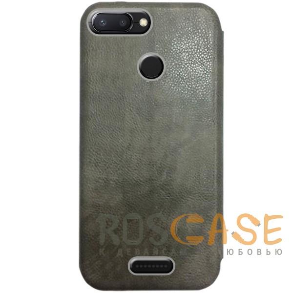 Изображение Серый Open Color 2 | Чехол-книжка на магните для Xiaomi Redmi 6 с подставкой и внутренним карманом