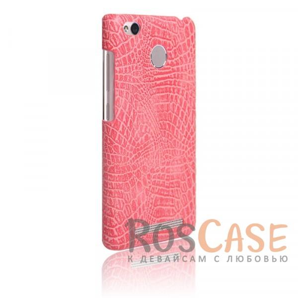 Кожаный чехол с узором из крокодиловой кожи Croc Series для Xiaomi Redmi 3 Pro / Redmi 3s (Розовый)<br><br>Тип: Чехол<br>Бренд: Epik<br>Материал: Искусственная кожа