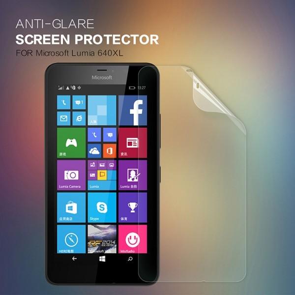 Защитная пленка Nillkin для Microsoft Lumia 640XLОписание:бренд:&amp;nbsp;Nillkin;совместима с Microsoft Lumia 640XL;материал: полимер;тип: матовая.&amp;nbsp;Особенности:все необходимые функциональные вырезы;антибликовое покрытие;не влияет на чувствительность сенсора;легко очищается;не бликует на солнце.<br><br>Тип: Защитная пленка<br>Бренд: Nillkin