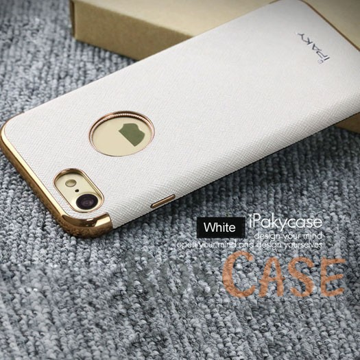Текстурная накладка iPaky (original) Luxury Armor с хромированными золотистыми вставками для Apple iPhone 7 / 8 (4.7) (Белый)Описание:производитель: iPaky;создана для&amp;nbsp;Apple iPhone 7 / 8 (4.7);материал изделия: искусственная кожа, хромированный пластик;конфигурация: накладка.Особенности:двухцветный дизайн;рельефная фактура;встроенная металлическая пластина;наличие всех функциональных вырезов;защита от царапин и ударов.<br><br>Тип: Чехол<br>Бренд: iPaky<br>Материал: Искусственная кожа