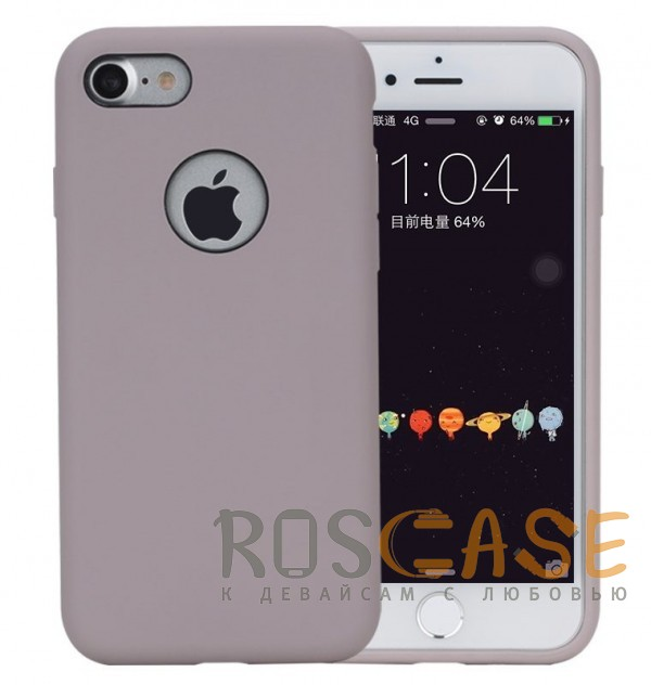 """Изображение Сиреневый / Light purple Rock Silicon   Ультратонкий чехол для Apple iPhone 7 / 8 (4.7"""") из силикона"""