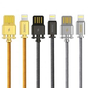 Remax Dominator RC-064i | Дата кабель с функцией быстрой зарядки в тканевой оплетке USB to Lightning (100см)