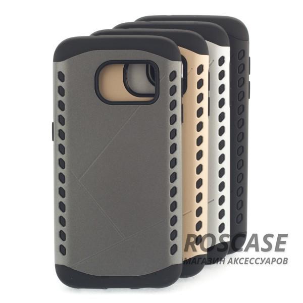 Противоударный защитный чехол Armor для Samsung G930F Galaxy S7 с усиленным прорезиненным бамперомОписание:разработан с учетом особенностей&amp;nbsp;Samsung G930F Galaxy S7;материалы: термополиуретан, поликарбонат;формат: накладка.Особенности:защита от ударов;двойной корпус;не скользит в руках;усиленный бампер;присутствуют все необходимые вырезы.<br><br>Тип: Чехол<br>Бренд: Epik<br>Материал: TPU