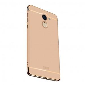 Пластиковый чехол MOFI Ya Shield с глянцевой вставкой цвета металлик для Huawei Y7 Prime