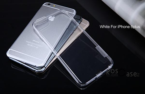 TPU чехол Nillkin Nature Series для Apple iPhone 6/6s plus (5.5) (Бесцветный (прозрачный))Описание:производитель  - &amp;nbsp;Nillkin;совместимость: Apple iPhone 6/6s plus (5.5);материал  -  термополиуретан;форма  -  накладка.&amp;nbsp;Особенности:в наличии все вырезы;матовая поверхность;не увеличивает габариты;защита от ударов и царапин;на накладке не видны &amp;laquo;пальчики&amp;raquo;.<br><br>Тип: Чехол<br>Бренд: Nillkin<br>Материал: TPU