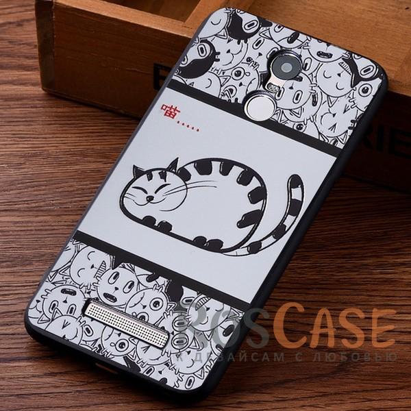 TPU чехол с принтом Cats story tales для Xiaomi Redmi Note 3 / Redmi Note 3 Pro (Белый)<br><br>Тип: Чехол<br>Бренд: Epik<br>Материал: TPU