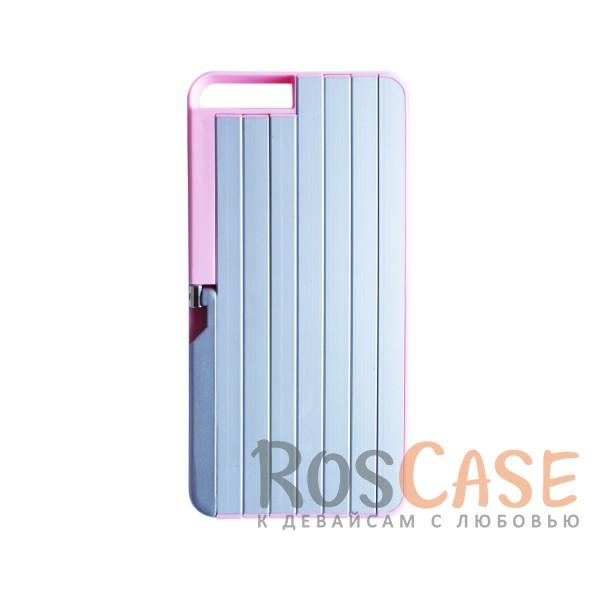 """Фото Розовый 2 в 1! Чехол и селфи-палка для Apple iPhone 6 plus (5.5"""")  / 6s plus (5.5"""") из алюминия и ABS пластика"""