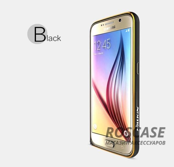 Металлический бампер Nillkin Gothic Series для Samsung Galaxy S6 G920F/G920D Duos (Черный)Описание:производитель  -  бренд&amp;nbsp;Nillkin;совместимость: Samsung Galaxy S6 G920F/G920D Duos;материал  -  металл;форма  -  бампер.&amp;nbsp;Особенности:легкий и прочный;имеет все функциональные вырезы;обладает хорошей амортизацией;не увеличивает габариты;стильныйгладкий.<br><br>Тип: Чехол<br>Бренд: Nillkin<br>Материал: Металл
