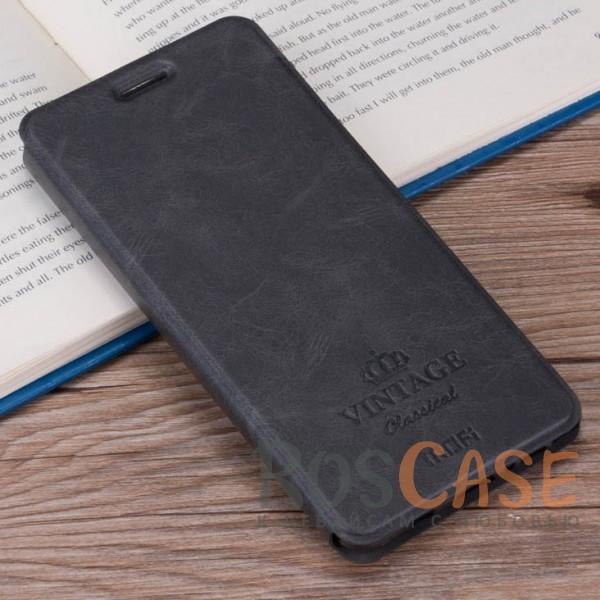 Винтажный кожаный чехол-книжка MOFI Vintage с отделением для карт и функцией подставки для Meizu M5s (Темно-серый)Описание:компания-производитель: Mofi;совместимость: Meizu M5s;материалы: искусственная кожа, термополиуретан;функция подставки;отделение для карточек или купюр;формат: чехол-книжка;винтажный стиль.<br><br>Тип: Чехол<br>Бренд: Mofi<br>Материал: Искусственная кожа