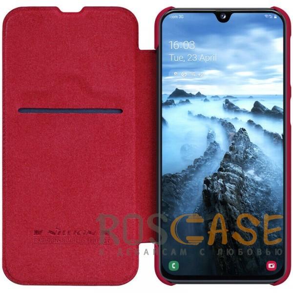 Фотография Красный Nillkin Qin натур. кожа   Чехол-книжка для Samsung A405F Galaxy A40