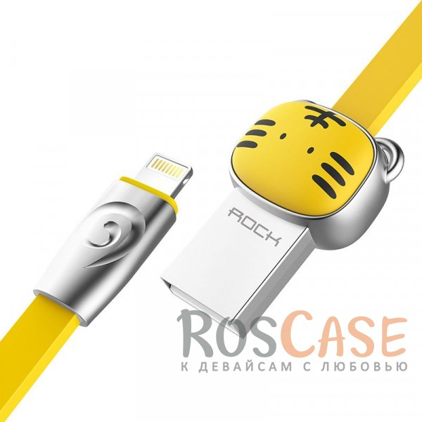 Фото Tiger-Yellow ROCK Chinese Zodiac | Кабель Lightning для Apple iPhone 5/5s/5c/SE/6/6 Plus/6s/6s Plus /7/7 Plus 1m