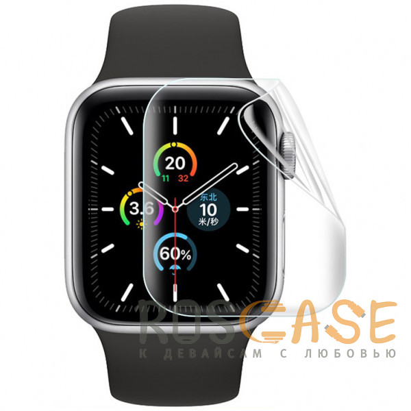 Фото Прозрачная Гидрогелевая защитная плёнка Rock для Apple Watch 5 (44 мм) 2 шт