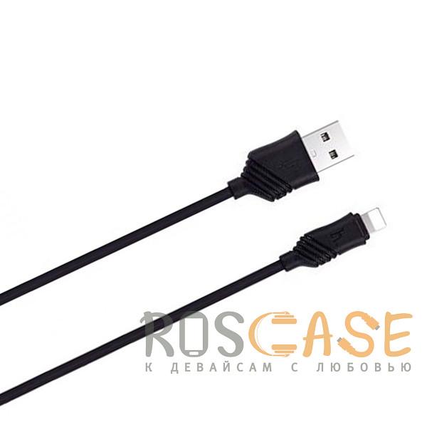 Фото Черный HOCO C12   Сетевое зарядное устройство 2USB (2.1А) и кабелем Lightning