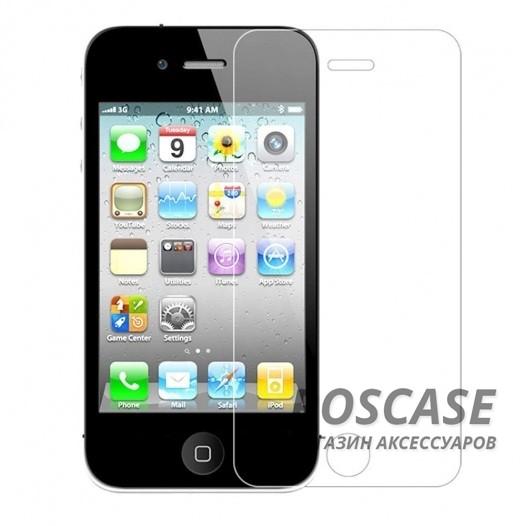 Защитное стекло Ultra Tempered Glass 0.33mm (H+) для Apple iPhone 4/4S (картонная упаковка)Описание:совместимо с устройством Apple iPhone 4/4S;материал: закаленное стекло;тип: защитное стекло на экран.&amp;nbsp;Особенности:закругленные&amp;nbsp;грани стекла обеспечивают лучшую фиксацию на экране;стекло очень тонкое - 0,33 мм;отзыв сенсорных кнопок сохраняется;стекло не искажает картинку, так как абсолютно прозрачное;выдерживает удары и защищает от царапин;размеры и вырезы стекла соответствуют особенностям дисплея.<br><br>Тип: Защитное стекло<br>Бренд: Epik