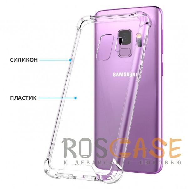 Фотография Прозрачный King Kong Armor   Противоударный прозрачный чехол для Samsung Galaxy S9 с дополнительной защитой углов