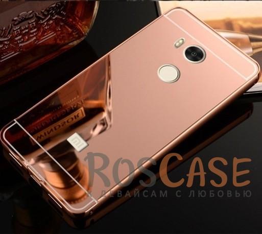 Защитный металлический бампер с зеркальной вставкой для Xiaomi Redmi 4 Pro / 4 Prime (Розовый)Описание:разработан для&amp;nbsp;Xiaomi Redmi 4 Pro / Redmi 4 Prime;материалы - металл, акрил;тип - бампер с задней панелью.<br><br>Тип: Чехол<br>Бренд: Epik<br>Материал: Металл