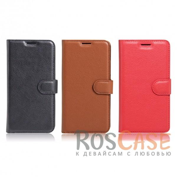 Гладкий кожаный чехол-бумажник на магнитной застежке Wallet с функцией подставки и внутренними карманами для Xiaomi Redmi 4XОписание:совместим с Xiaomi Redmi 4X;материалы  -  искусственная кожа, TPU;форма  -  чехол-книжка;фактурная поверхность;предусмотрены все функциональные вырезы;кармашки для визиток/кредитных карт/купюр;магнитная застежка;защита от механических повреждений.<br><br>Тип: Чехол<br>Бренд: Epik<br>Материал: Искусственная кожа