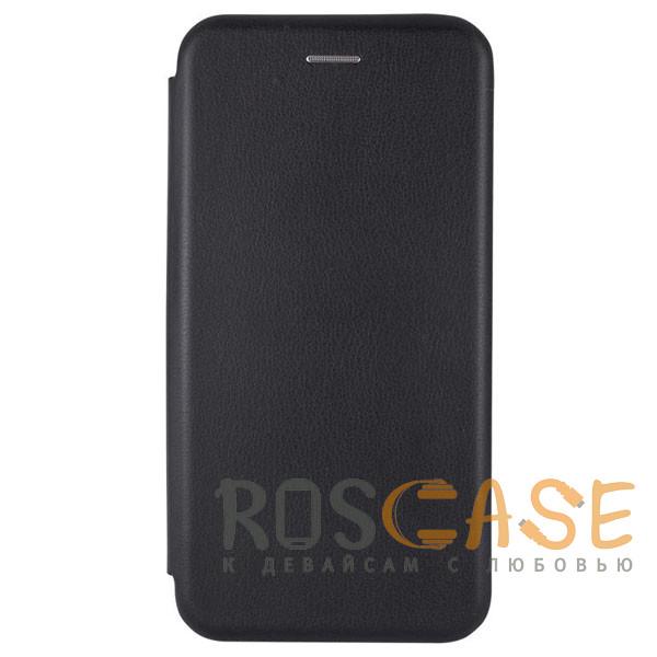 Фотография Черный Open Color   Кожаный чехол-книжка для iPhone 11 Pro с функцией подставки и магнитом