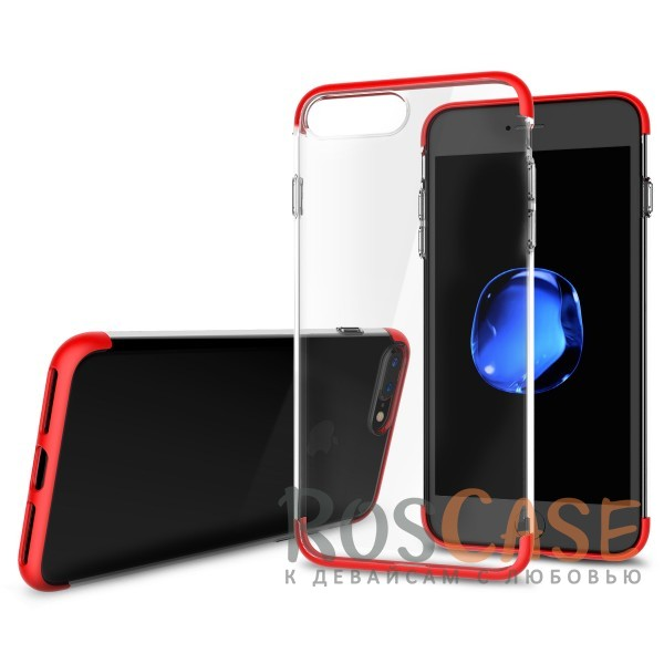 TPU+PC чехол Rock Cheer Series для Apple iPhone 7 plus (5.5) (Красный)Описание:компания&amp;nbsp;Rock;материалы: термополиуретан, поликарбонат;совместимость: Apple iPhone 7 plus (5.5);тип: накладка.<br><br>Тип: Чехол<br>Бренд: ROCK<br>Материал: TPU