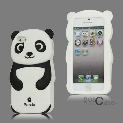 """фото силиконовый чехол """"Панда"""" для Apple iPhone 5/5S/5SE"""