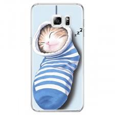 """Тонкий силиконовый чехол с принтом """"Милые котята"""" для Samsung Galaxy S6 G920F/G920D Duos"""