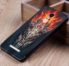 Тонкий металлический чехол для Xiaomi Redmi Note 3 / Redmi Note 3 Pro с оригинальным принтом