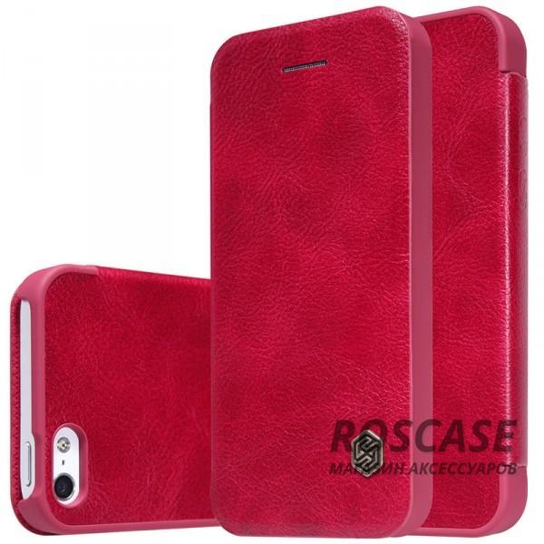 Кожаный чехол (книжка) Nillkin Qin Series для Apple iPhone 5/5S/SE (Красный)Описание:производитель:&amp;nbsp;Nillkin;разрабонат для Apple iPhone 5/5S/SE;материал: натуральная кожа;тип: чехол-книжка.&amp;nbsp;Особенности:элегантный дизайн;ультратонкий;фактурная поверхность;внутренняя отделка микрофиброй.<br><br>Тип: Чехол<br>Бренд: Nillkin<br>Материал: Натуральная кожа