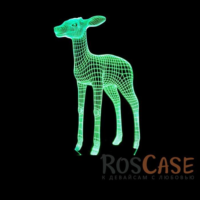 """Фото Светодиодный 3D светильник-ночник с проекцией объемного изображения """"Бэмби"""""""