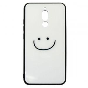 Силиконовый чехол со стеклянной вставкой  для Xiaomi Redmi 8