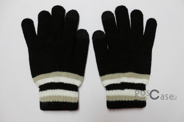 Емкостные перчатки утепленные под кашемир (Черный с белой полосой)Описание:бренд -&amp;nbsp;Epik;предназначены для работы с сенсорным экраном;материал - шерсть, акрил;тип - емкостные перчатки.Особенности:возможность управлять гаджетом в перчатках;утепленные перчатки;вставки из серебряной нити, которая пропускает тепло;универсальный размер;свойства не теряются даже если они намокнут.<br><br>Тип: Общие аксессуары<br>Бренд: Epik