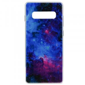 Силиконовый чехол с рисунком для Samsung Galaxy S10 Plus