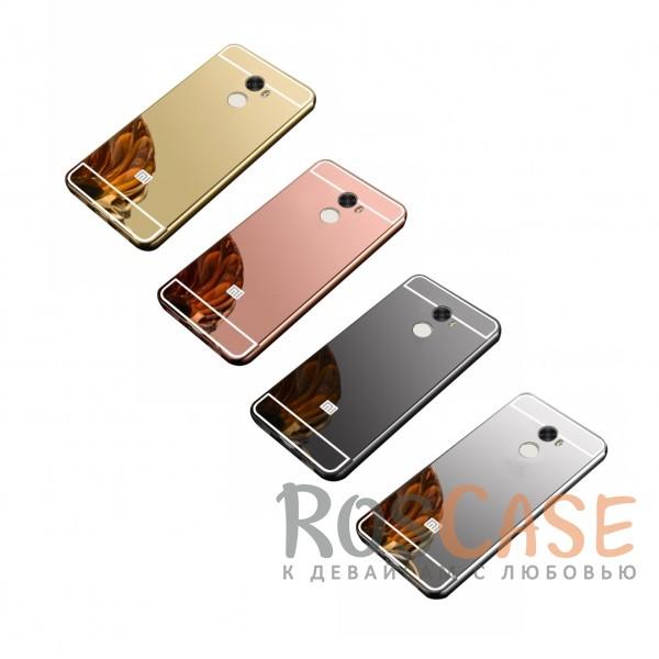 Защитный металлический бампер с зеркальной вставкой для Xiaomi Redmi 4Описание:разработан для Xiaomi Redmi 4;материалы - металл, акрил;тип - бампер с задней панелью.<br><br>Тип: Чехол<br>Бренд: Epik<br>Материал: Металл