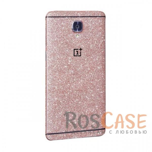 Виниловая наклейка на обе стороны Glitter series для OnePlus 3 / OnePlus (Светло-розовый)<br><br>Тип: Чехол<br>Бренд: Noreve<br>Материал: Натуральная кожа
